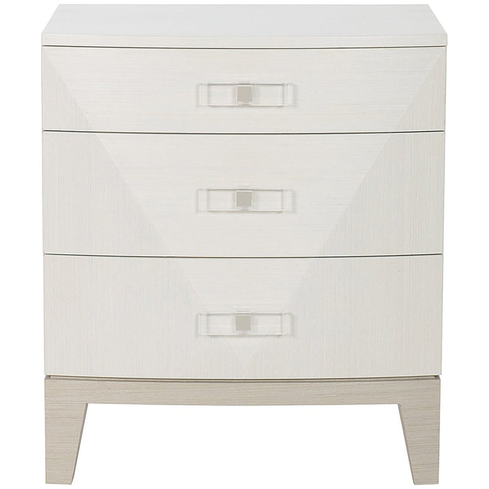 Bernhardt Axiom Nightstand - Linear Gray