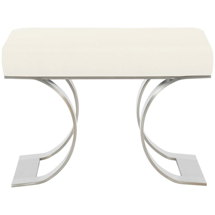 Bernhardt Axiom Bench - Brushed Silver