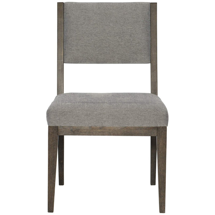 Bernhardt Linea Side Chair  Set of 2 - Cerused Charcoal