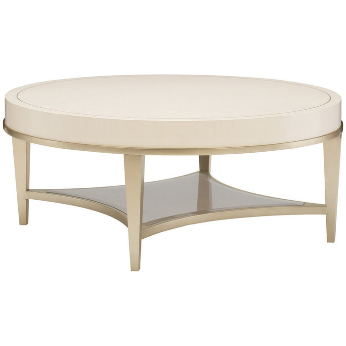 Caracole Adela Washed Alabaster Cocktail Table