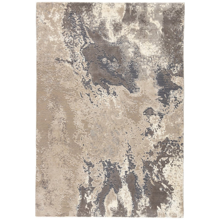 Jaipur Delmara Aegean Abstract  Gray Beige DLM02 Rug