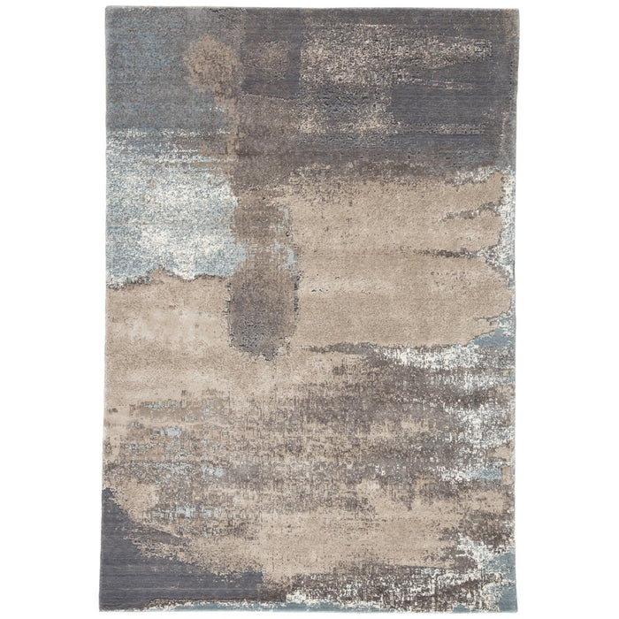 Jaipur Delmara Ionian Abstract  Gray Blue DLM03 Rug