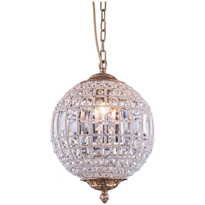 Elegant Lighting 1 Light Olivia Pendant in French Gold