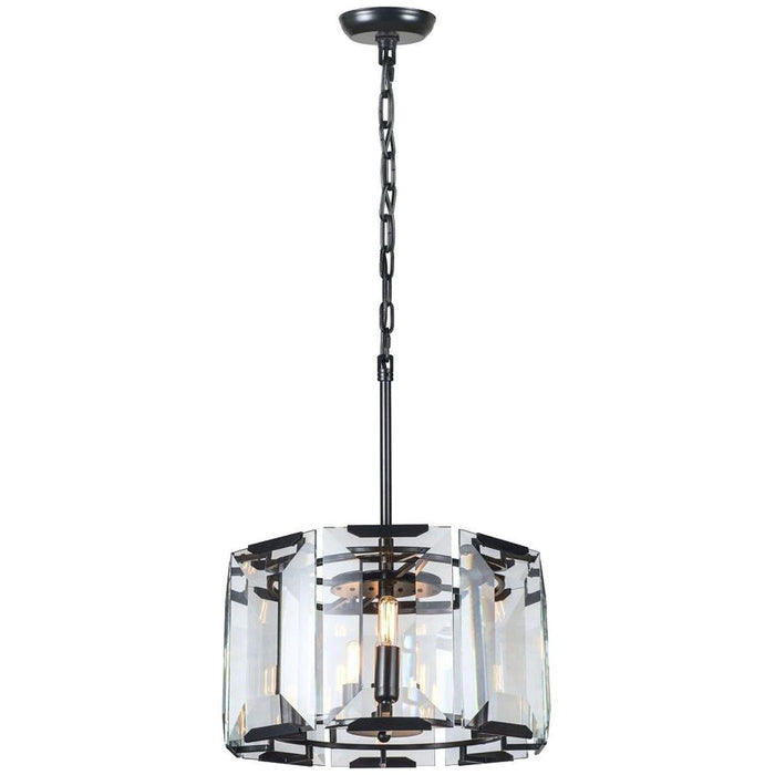 Elegant Lighting 4 Lights Monaco Pendant in Flat Black