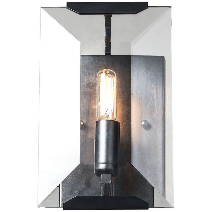 Elegant Lighting 1 Light Monaco Sconce in Flat Black