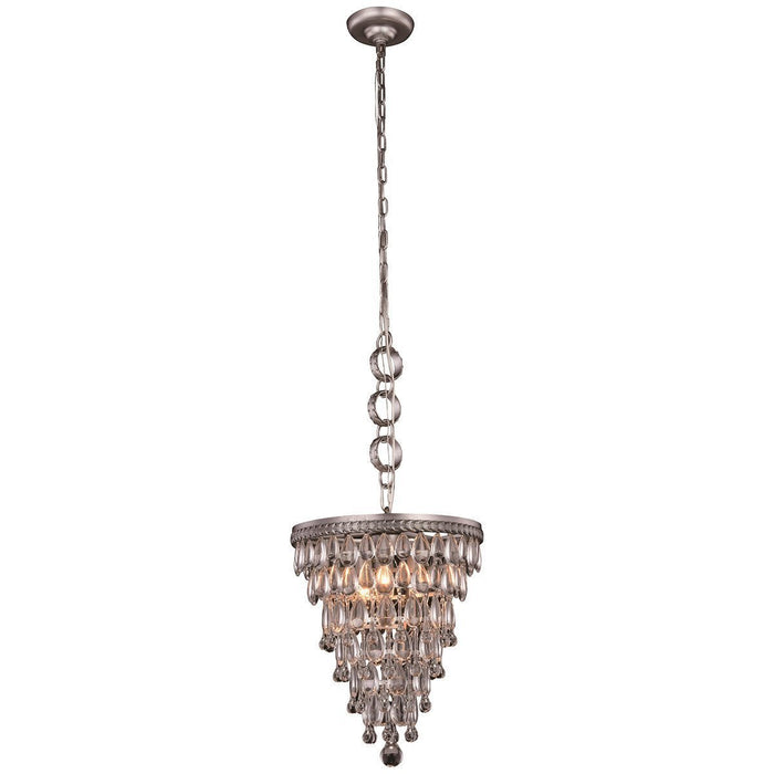 Elegant Lighting Nordic 3 Lights Antique Silver Pendant