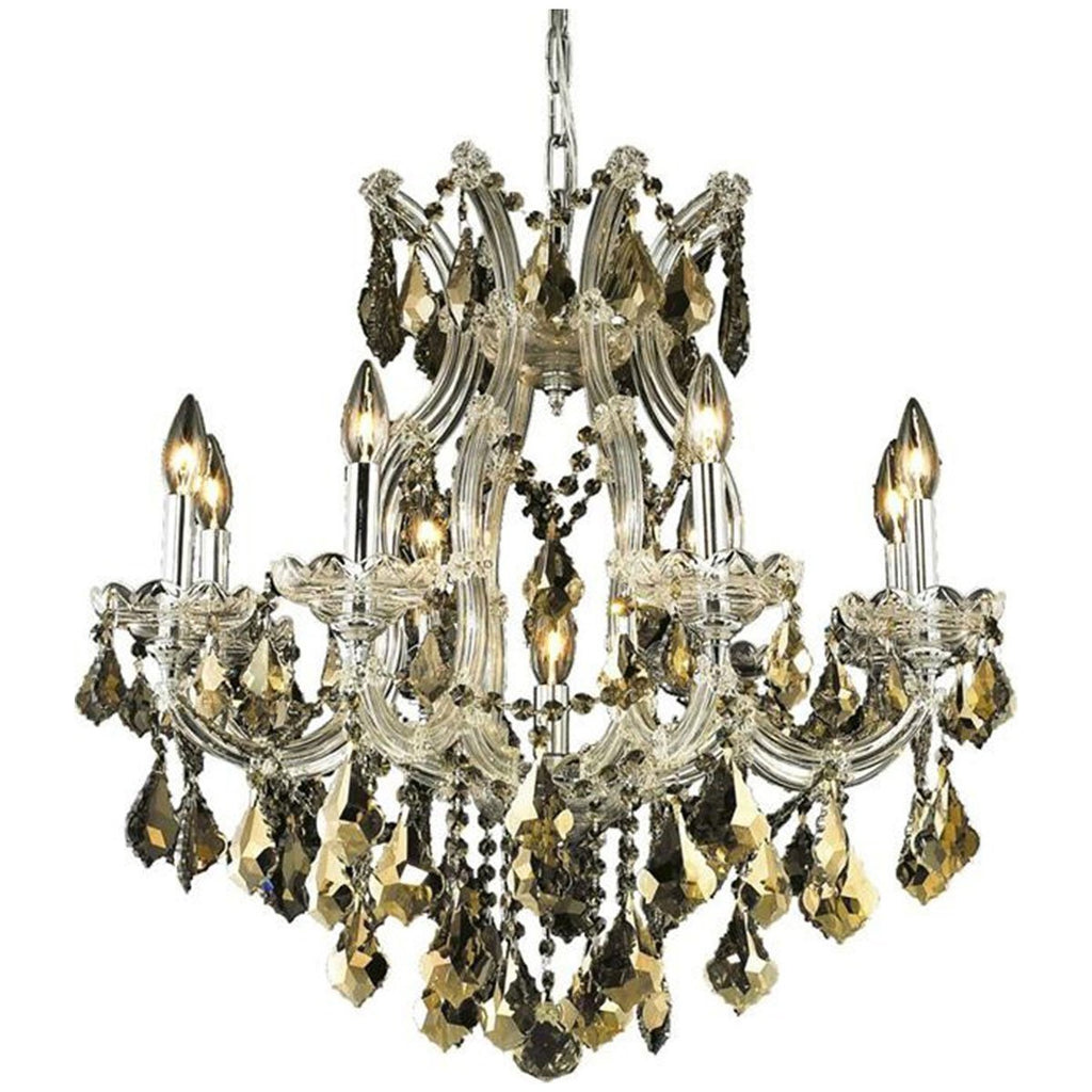 Elegant Lighting 2800 Maria Theresa 9 Lights Chandelier