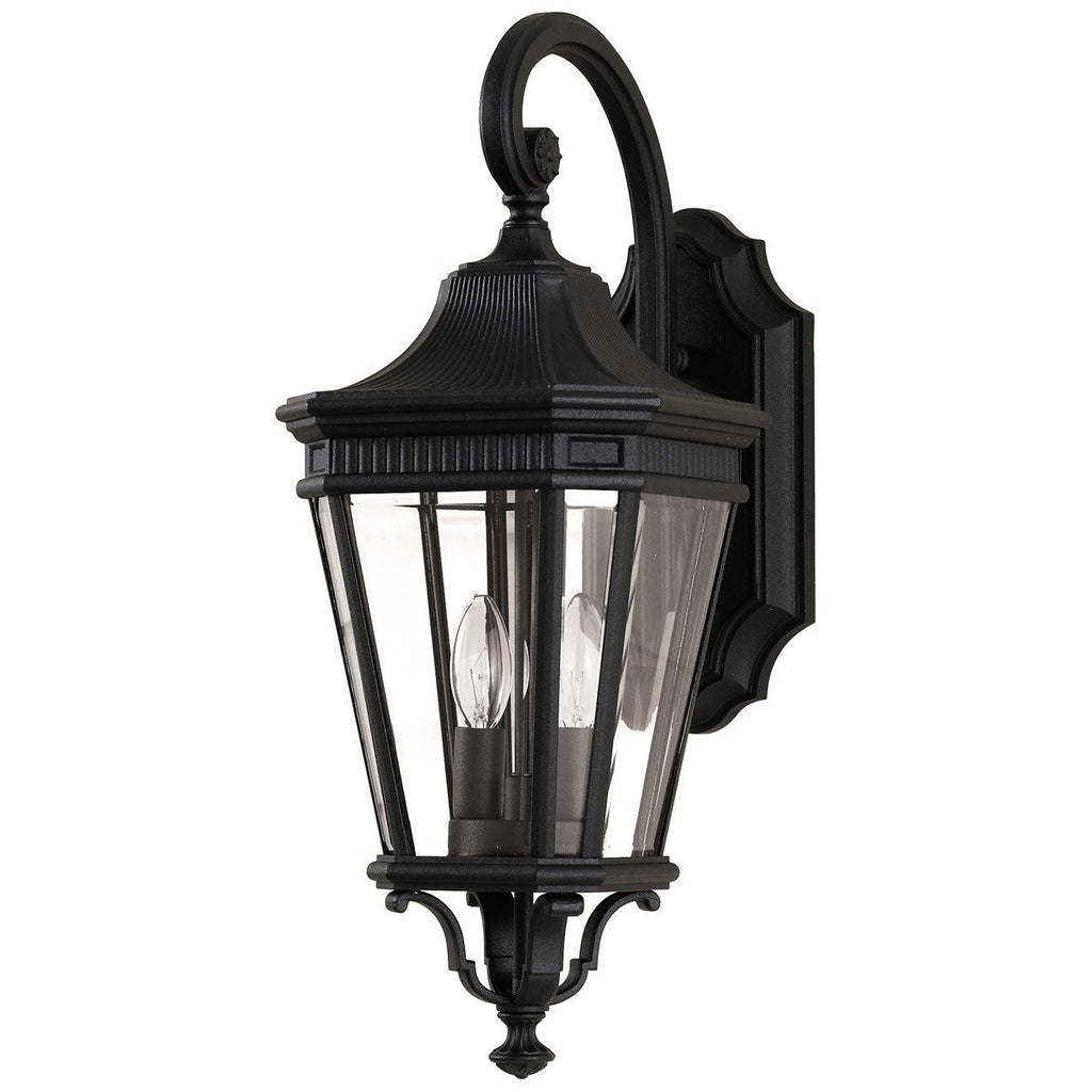 Feiss Cotswold Lane 2 Lights Clear Beveled Glass Wall Lantern