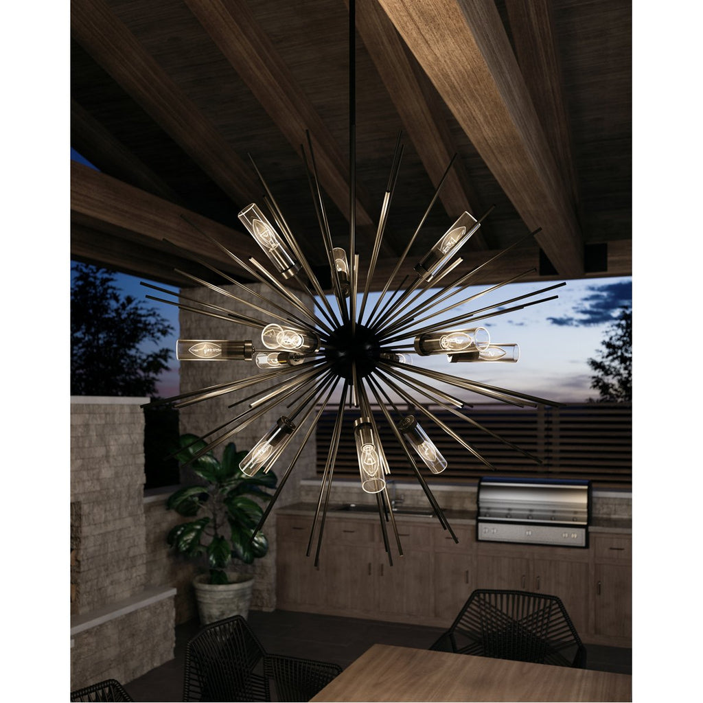 Feiss Hilo 12-Light Outdoor Chandelier