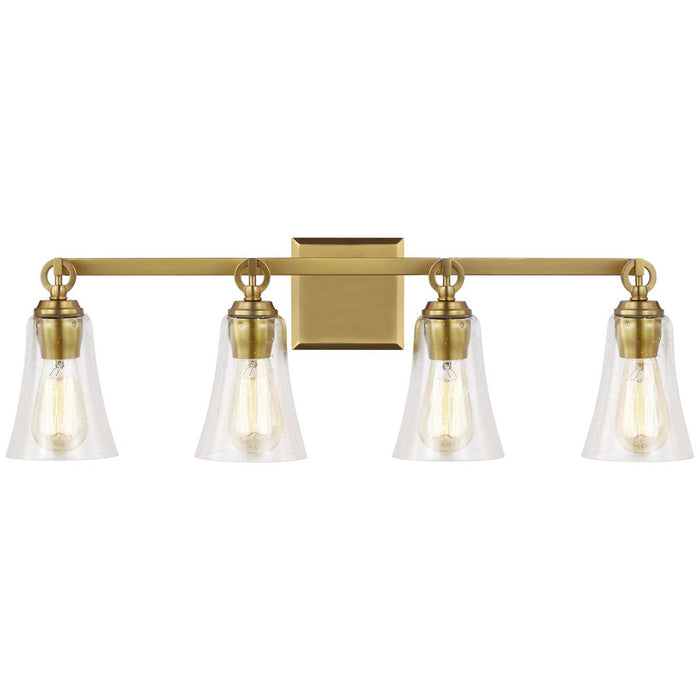 Feiss Monterro 4-Light Vanity - Burnished Brass