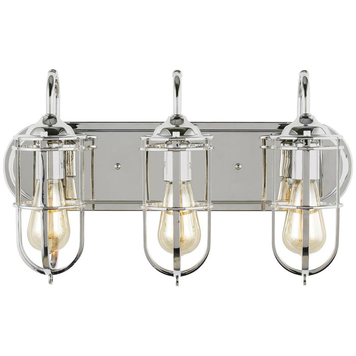 Feiss Urban Renewal 3-Light Vanity Strip - Polished Nickel
