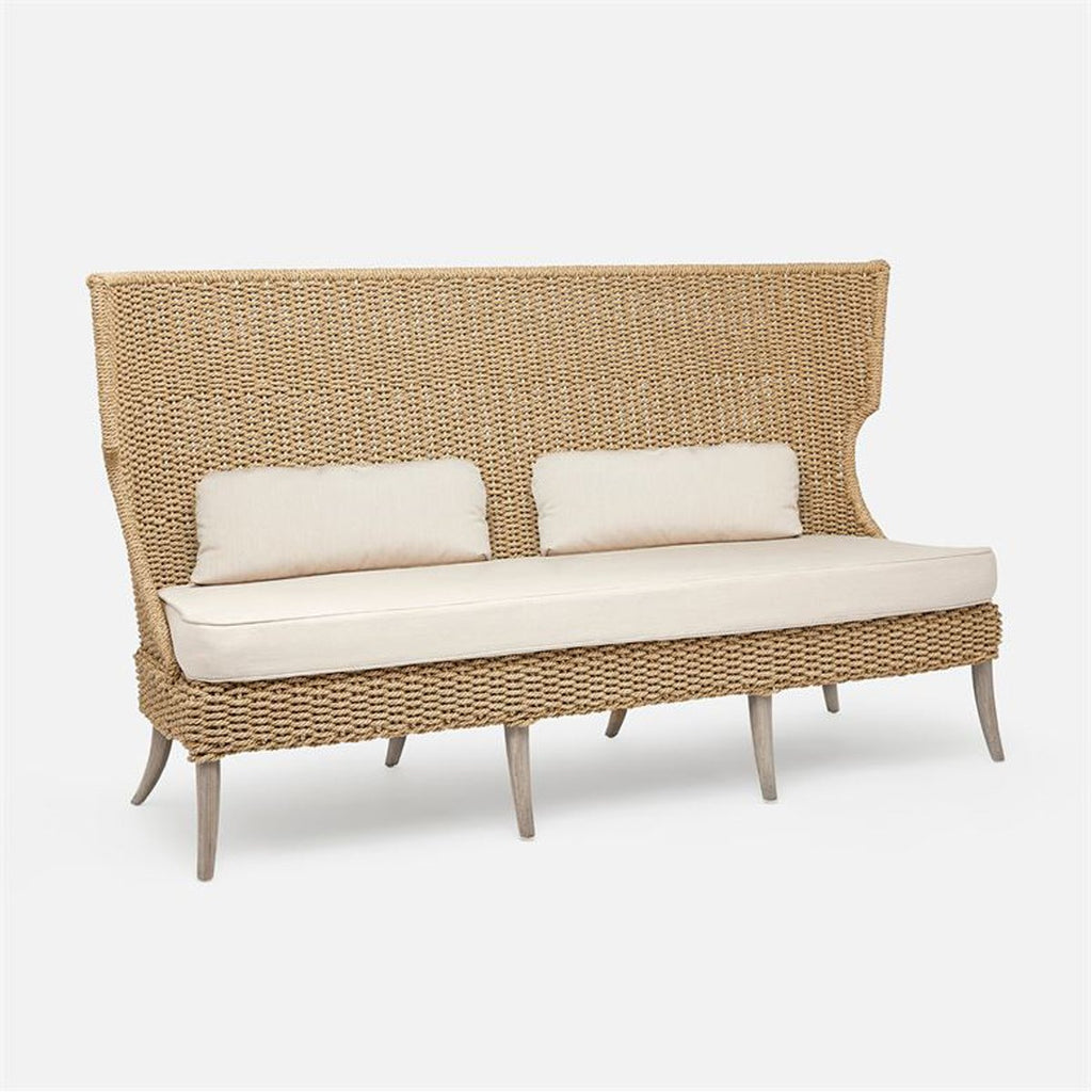 Made Goods Arla Outdoor Sofa in Danube High-Performance Fabric