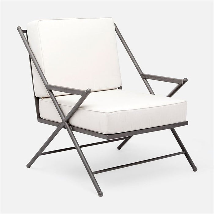 Made Goods Balta XL Outdoor Lounge Chair in Garonne Marine Leather