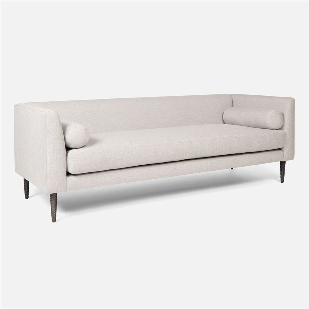 Made Goods Bay Sofa in Garonne Marine Leather