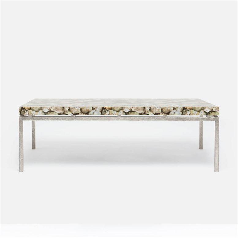 Made Goods Benjamin Silver Mop Shell Coffee Table