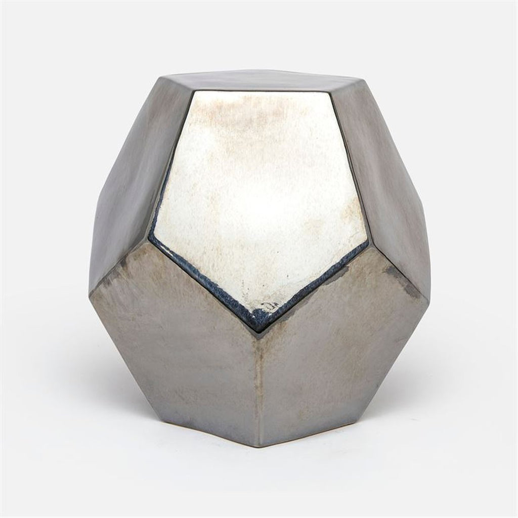 Made Goods Cole Ceramic Dodecahedron Outdoor Stool