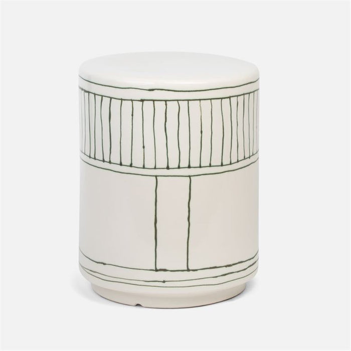 Made Goods Dennison Striped Ceramic Outdoor Stool