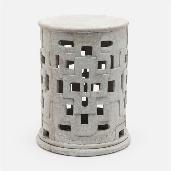 Made Goods Edan Concrete Outdoor Stool with Square Cutouts