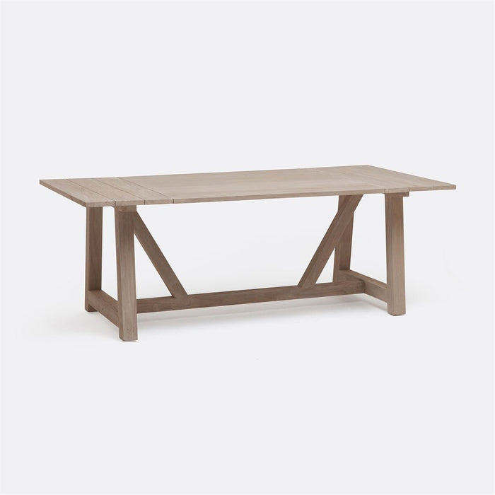 Made Goods Godal Outdoor Dining Table in Graywashed Teak