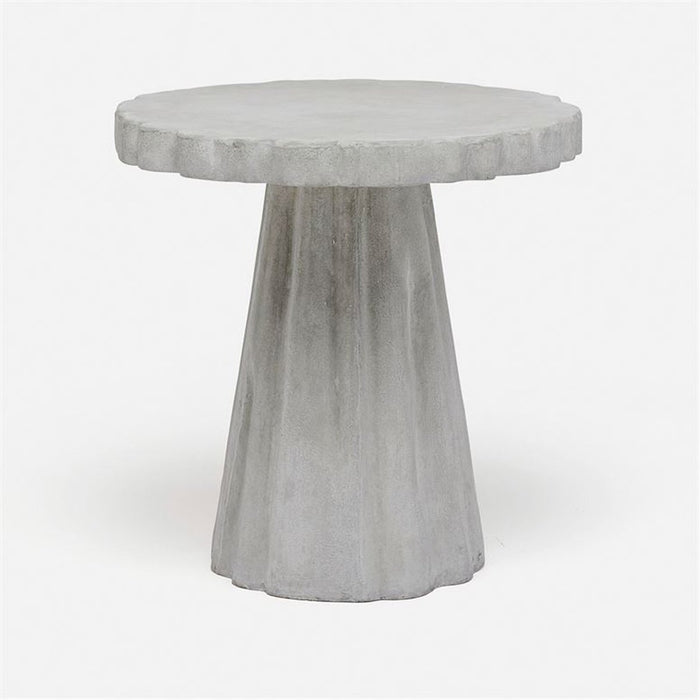 Made Goods Grady Scalloped Concrete Outdoor Side Table
