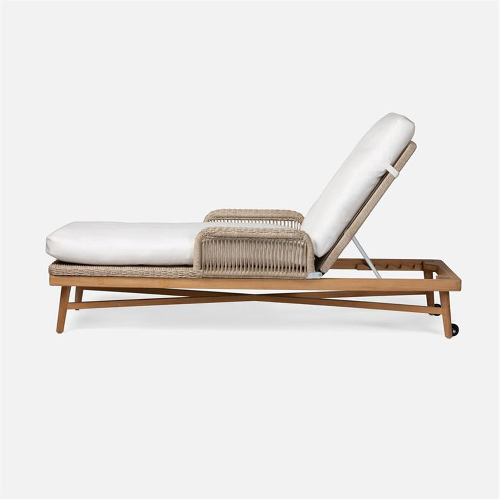 Made Goods Hendrick Easeful Garonne Marine Leather Chaise Lounge in Natural