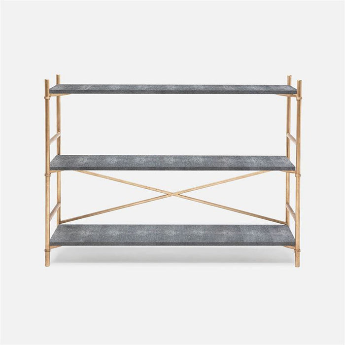 Made Goods Kenneth Faux Shagreen 3-Shelf Bookcase