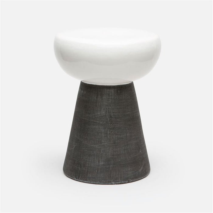 Made Goods Loz Ceramic Tapered Color Block Outdoor Stool