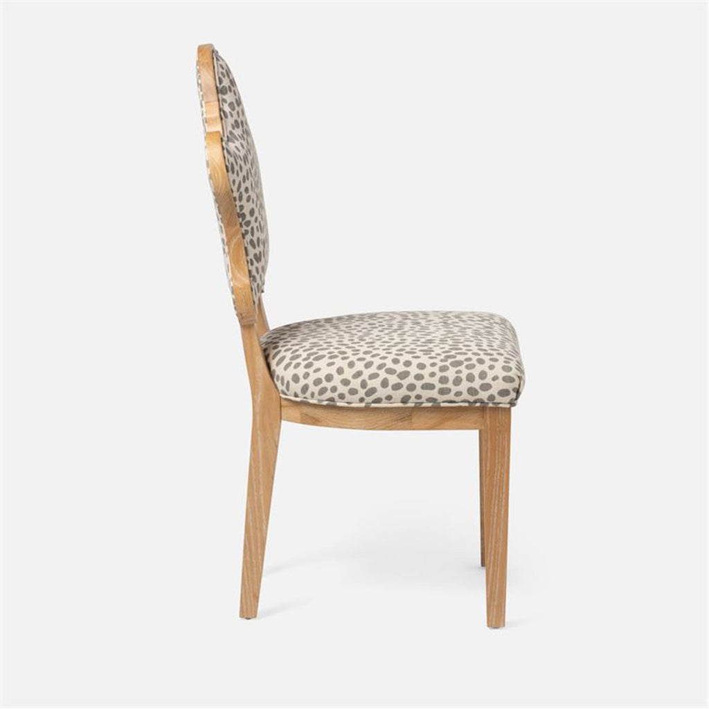 Made Goods Madisen Dining Chair in Garonne Marine Leather