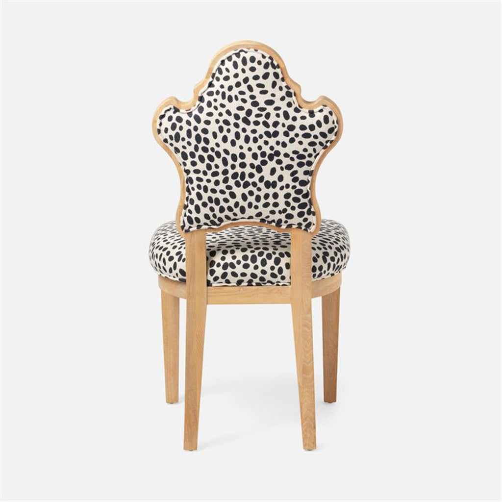 Made Goods Madisen Dining Chair in Bassac Shagreen Leather