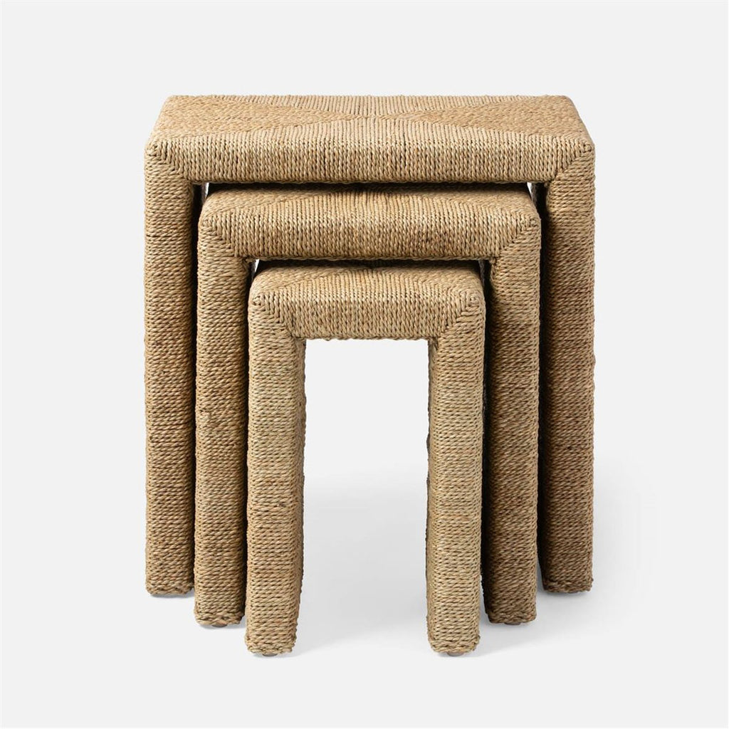 Made Goods Maggie Twisted Seagrass Nesting Tables