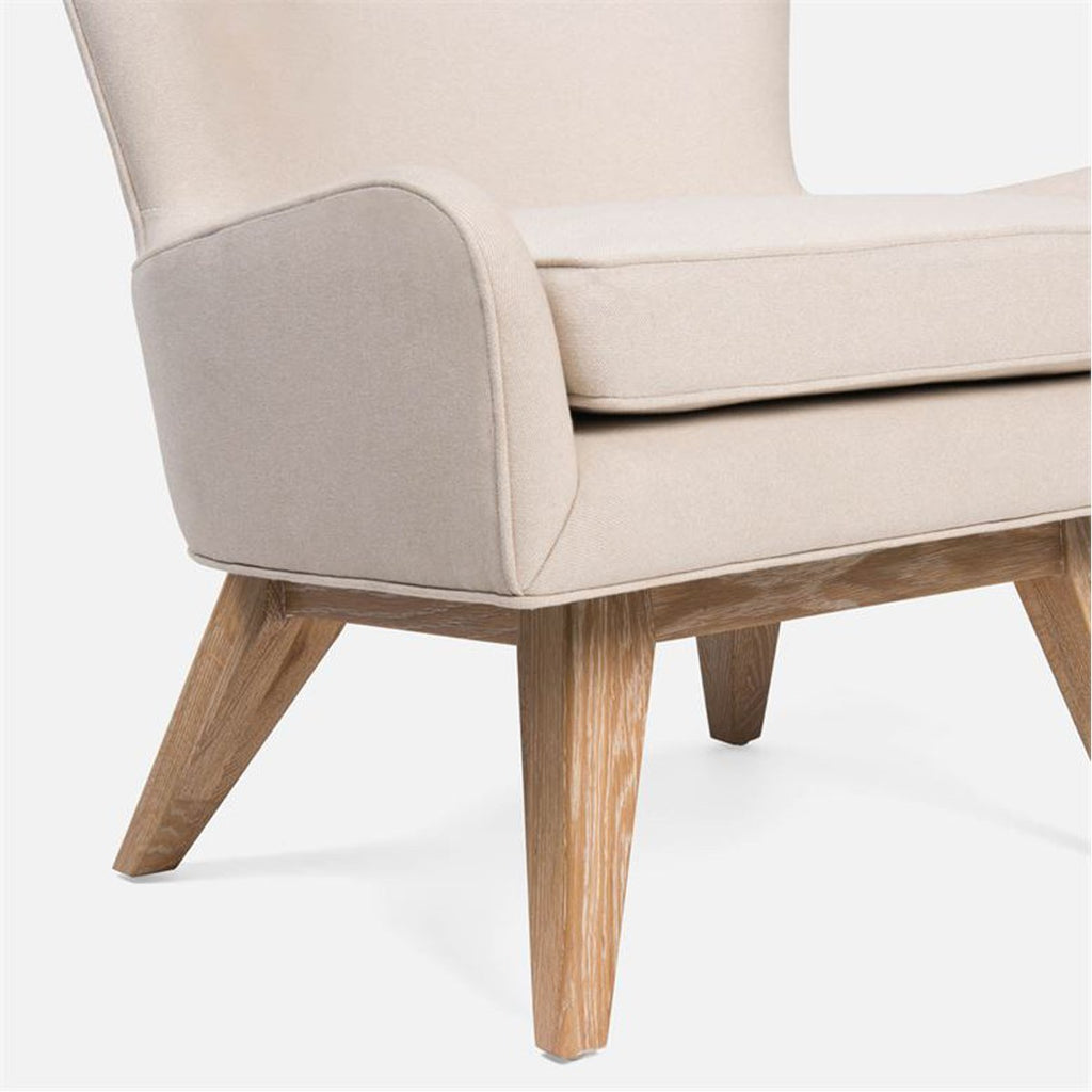 Made Goods Markell Oak Swivel Chair in Colorado Leather