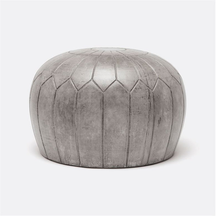 Made Goods Nadia Moroccan Concrete Pouf Outdoor Stool