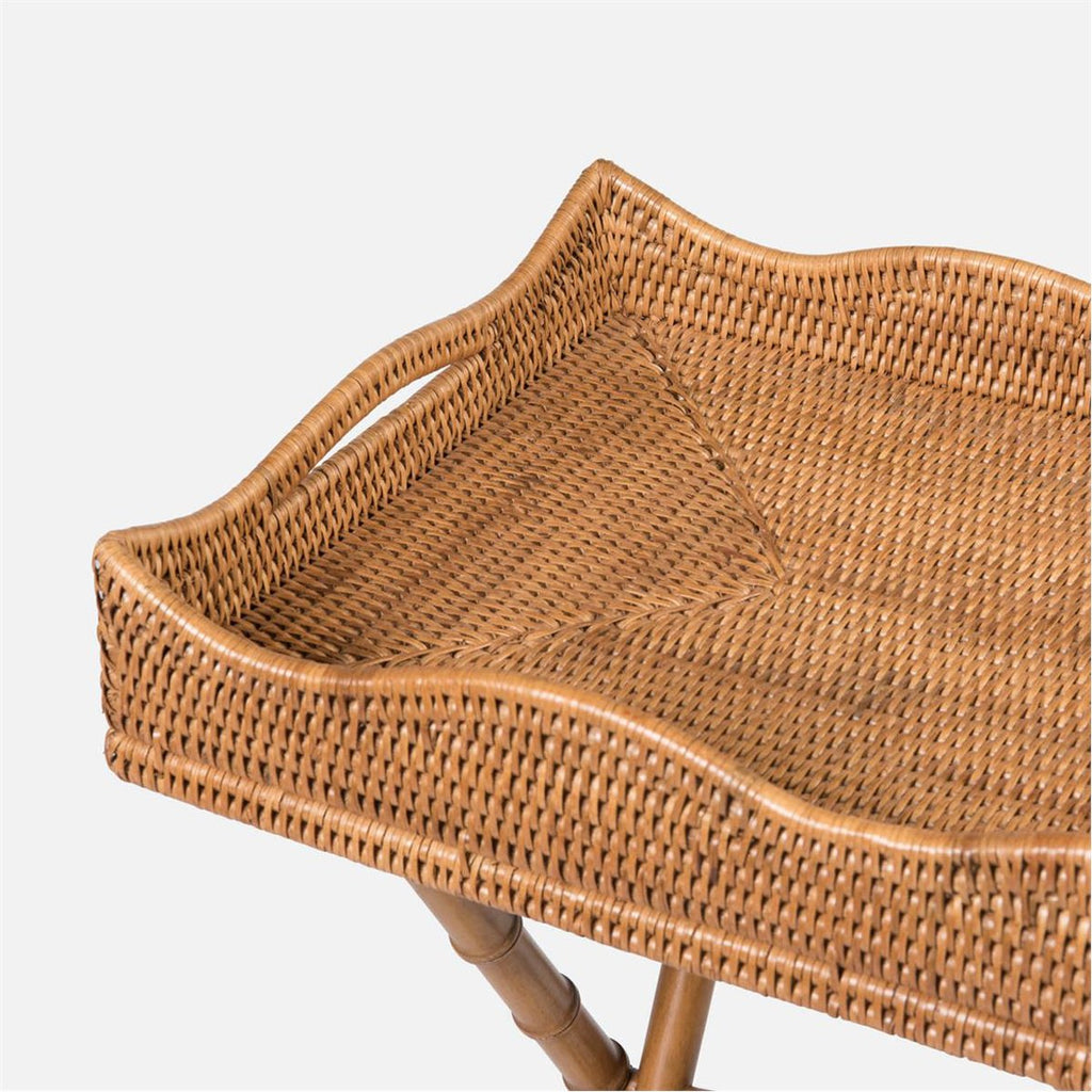 Made Goods Naoki Rattan Tray Side Table