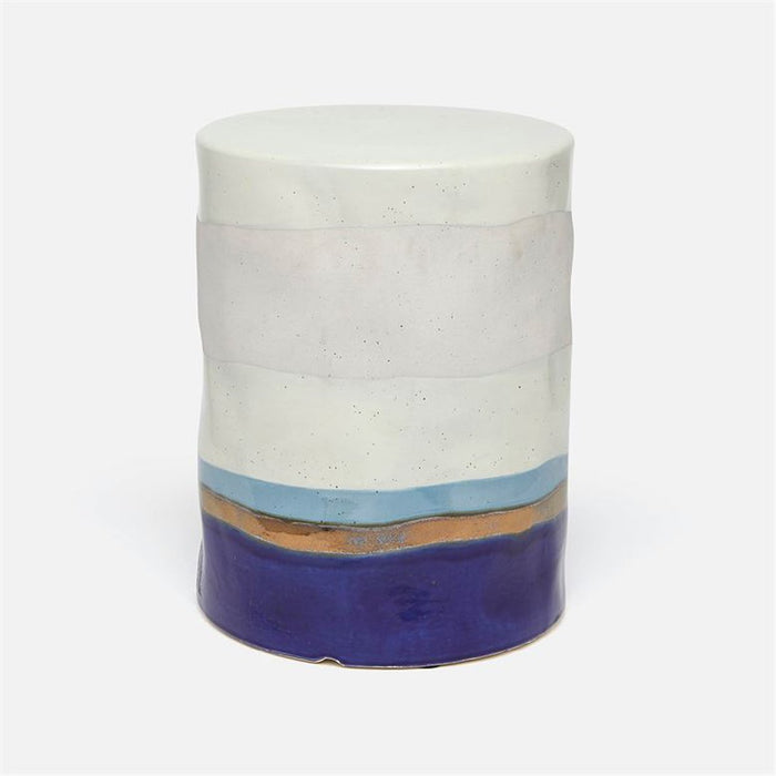 Made Goods Orla Layered Color Outdoor Stool