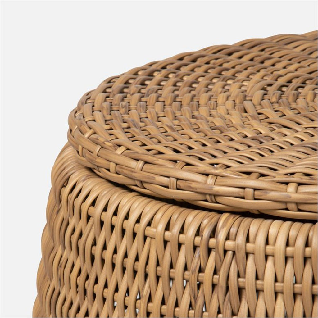 Made Goods Romero Faux Rattan Outdoor Side Table