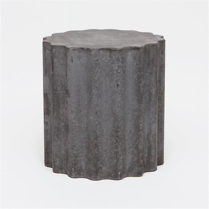 Made Goods Roy Wavy Concrete Outdoor Stool
