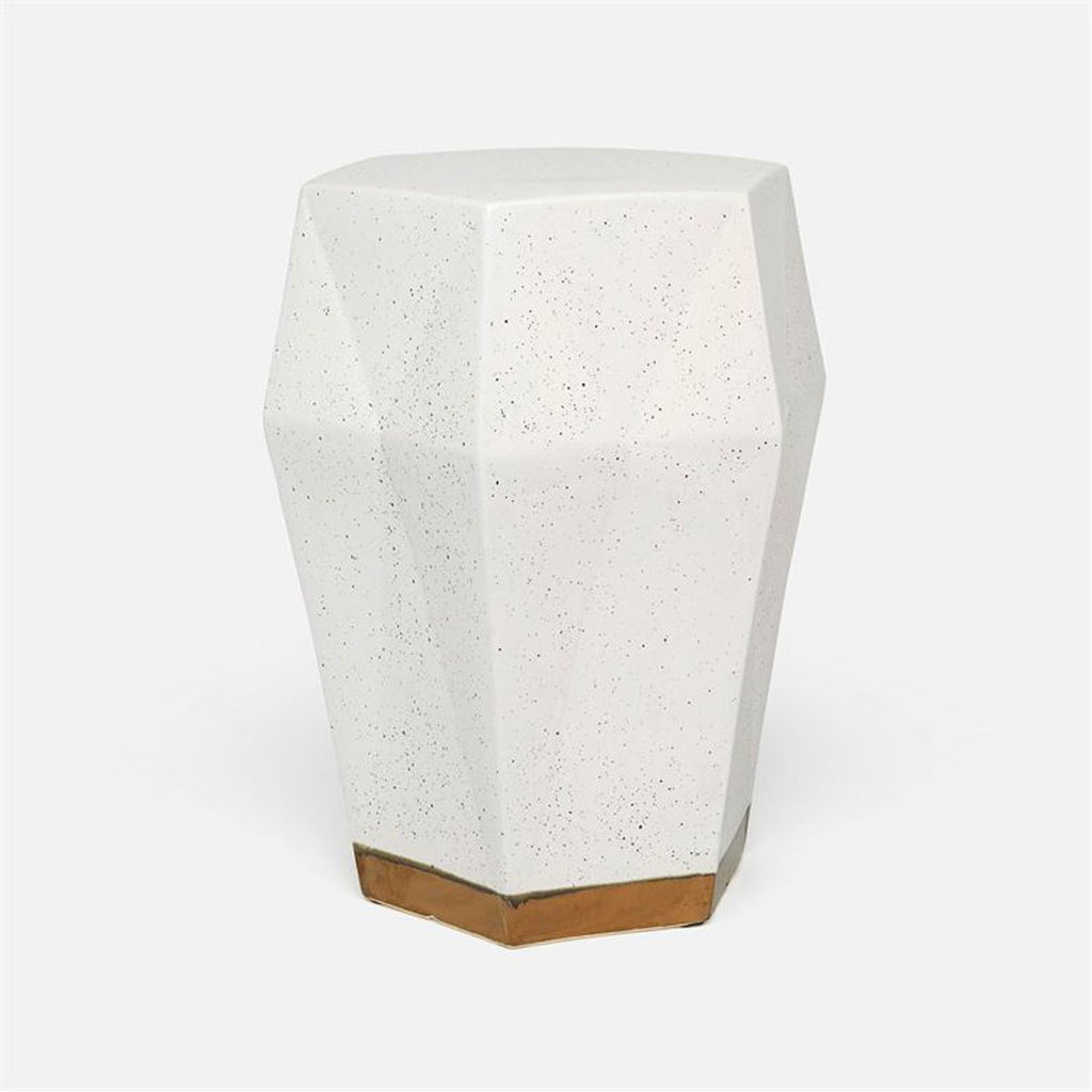 Made Goods Shelby Faceted Ceramic Outdoor Stool