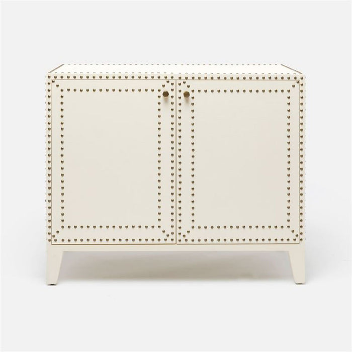 Made Goods Turner Faux Belgian Linen Studded Buffet