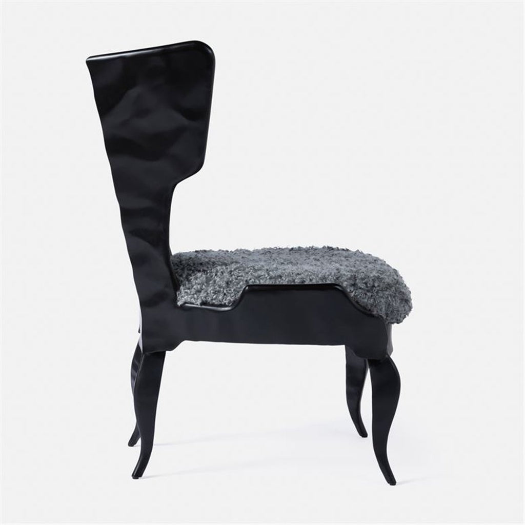 Made Goods Tybalt Iron Lounge Chair in Danube High-Performance Fabric