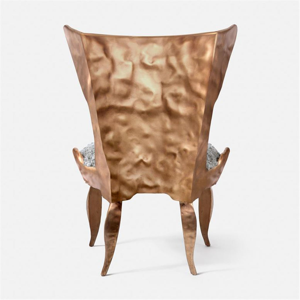 Made Goods Tybalt Iron Lounge Chair in Rhone Leather