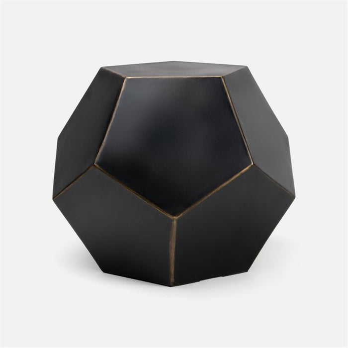 Made Goods Valenia Fiber Reinforced Concrete Dodecahedron Side Table