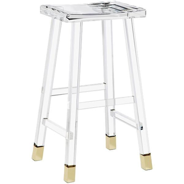 Interlude Home Reva Bar Stool - Brass