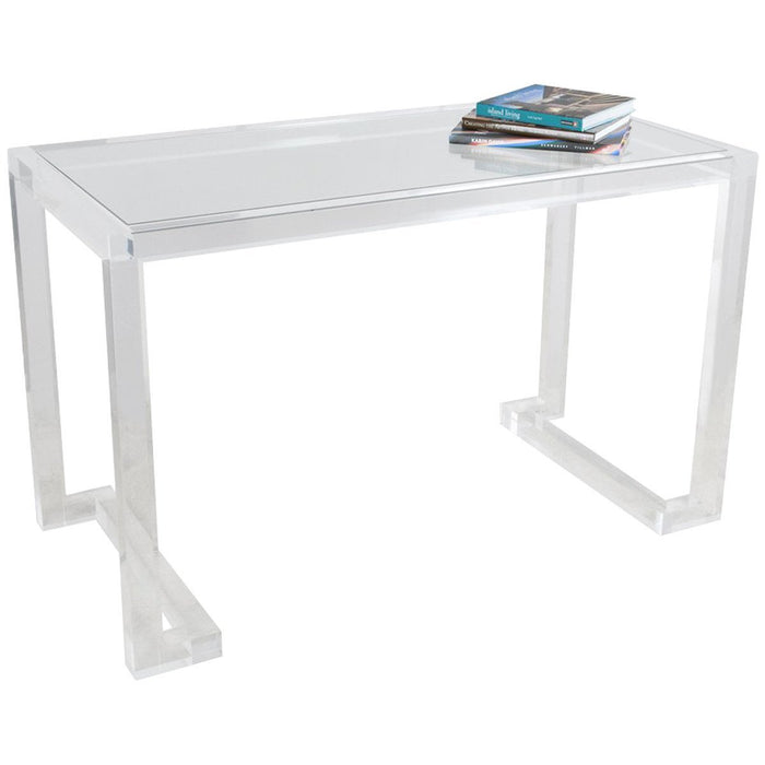 Interlude Home Ava Acrylic Clear Desk