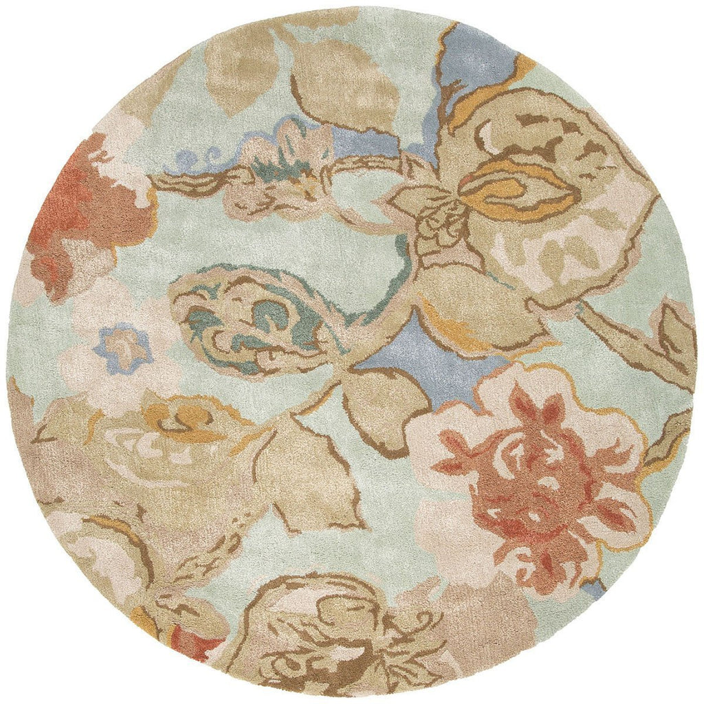 Jaipur Blue Petal Pusher Aqua Foam BL71 Area Rug