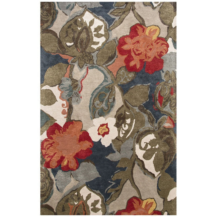 Jaipur Blue Petal Pusher Indigo/Silver Gray BL116 Area Rug