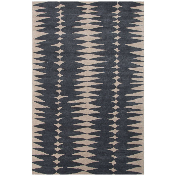 Jaipur Tufted Tear Drops Deep Blue/Dark Ivory LST27 Area Rug
