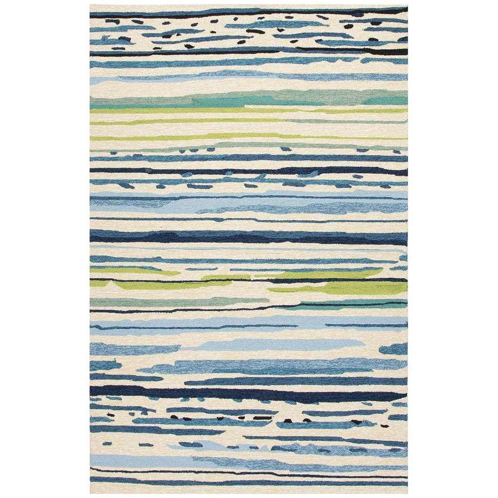 Jaipur Colours Sketchy Lines Blue/White CO19 Area Rug