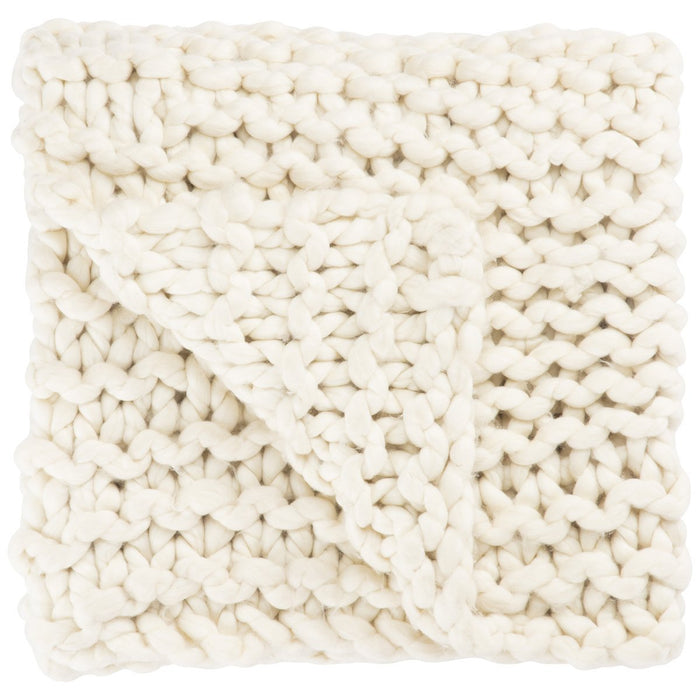 Jaipur Sublime By Nikki Chu Aya Solid SBK07 Ivory Throw