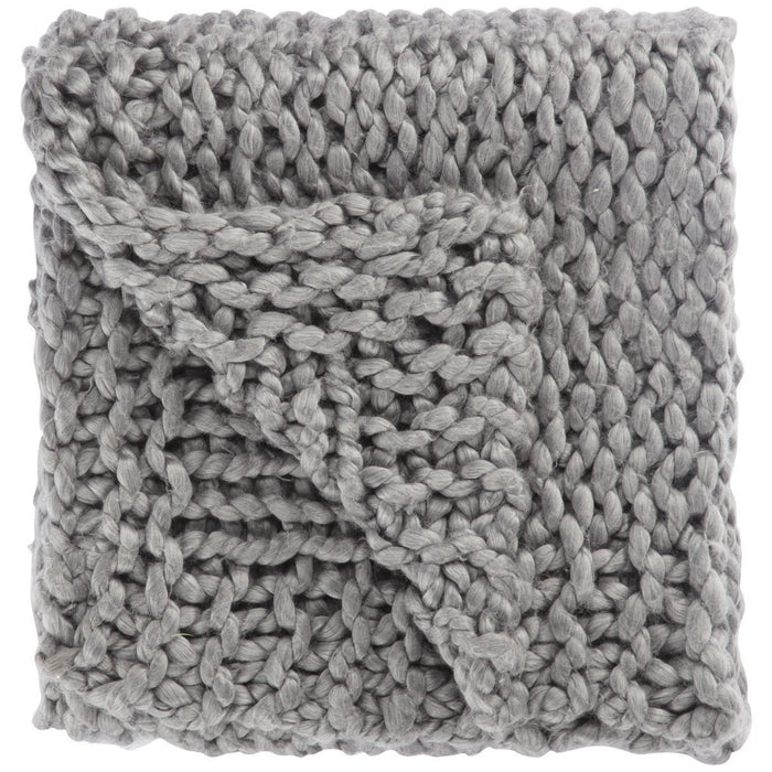 Jaipur Sublime By Nikki Chu Aya Solid SBK08 Gray Throw