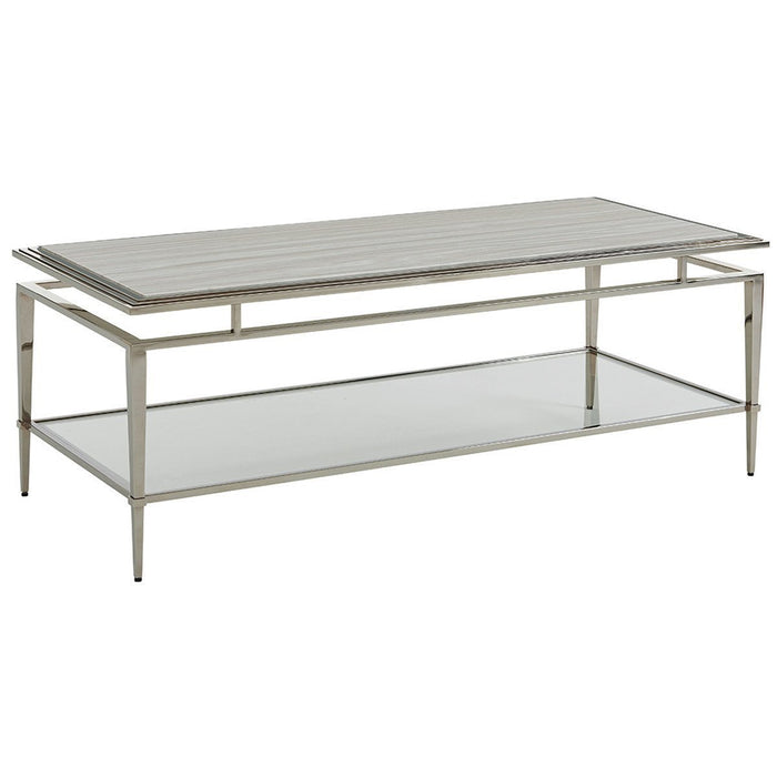 Lexington Ariana Athene Stainless Cocktail Table